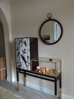 Roche Bobois cabinet in the entryway