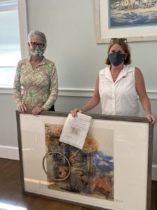 Zontian and artist Marianne Ravenna with online auction winner