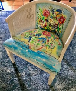 Painted chair by interior designer Marla Manning